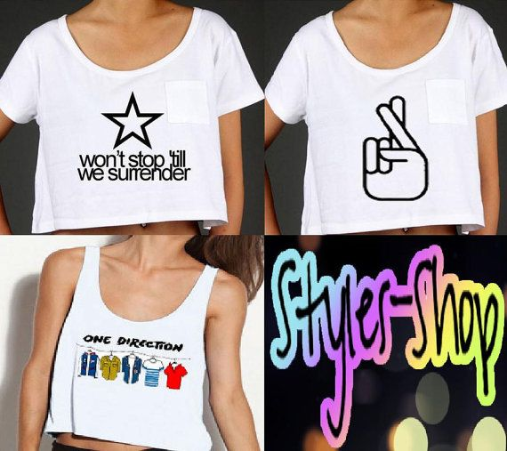 Another website for 1D inspired shirts! I'm getting the hipsta please one for sure. One Direction Inspired Tops PREORDER by StylesShop on Etsy,