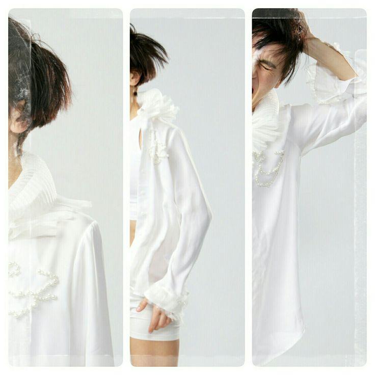 Design/ Shirt LINA .Photo/ Ankie Janssen. Edit/LINA. Model/Dancer Inma Pavon.