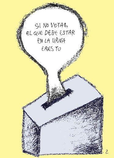 """Caricatura de Zapata, publicada en el cuerpo de Siete Días, sección """"El Libre Pensador"""". Título: A todos nos sale URNA. Caracas, 04-11-2012 (PEDRO LEON ZAPATA / ARCHIVO EL NACIONAL)"""