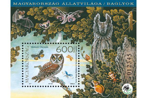 HUNGARY 2017. Animals of Hungary, birds / owls sheet MNH (**)