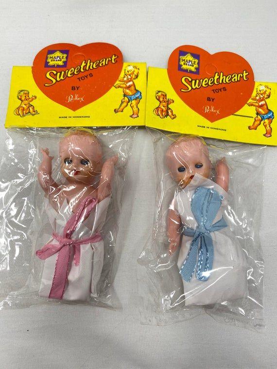 Vintage Sweetheart Dolls Gender Reveal 1970 S Dolls Sleepy Eyes Redbox Maple Brand In 2020 Childhood Memories Old Dolls My Childhood Memories