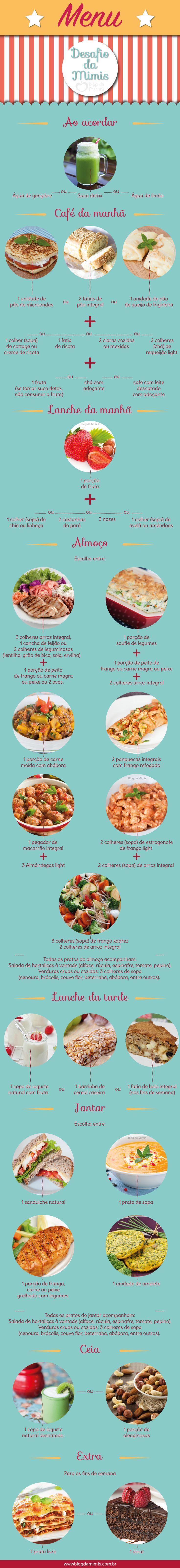 Dieta fácil: super cardápio para o dia a dia