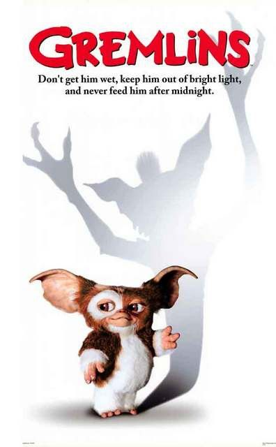 After midnight, little Mogwai Gizmo's gonna let it all hang down! A great poster for the classic 80's movie Gremlins. Fully licensed. Ships fast. 24x36 inches. Need Poster Mounts..? cu