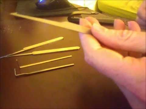 What common objects can you use to make your own lock picks?