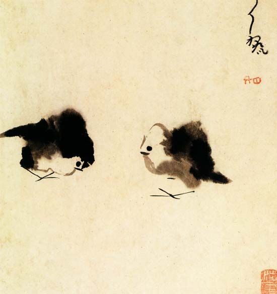 Lai Da (late 16th century), ink drawing. Shanghai Museum