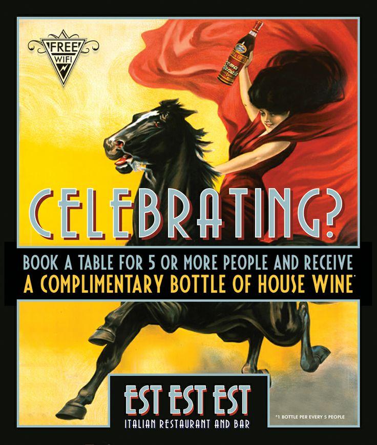 Est Est Est Celebrating poster