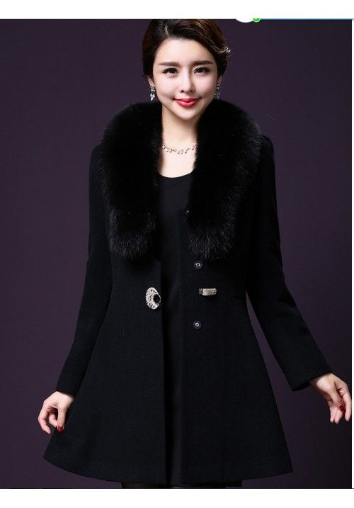 Winter fashion with fur coats