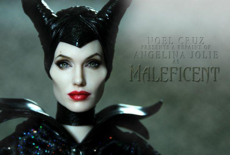 Angelina Jolie as Maleficent Repaint by Noel Cruz