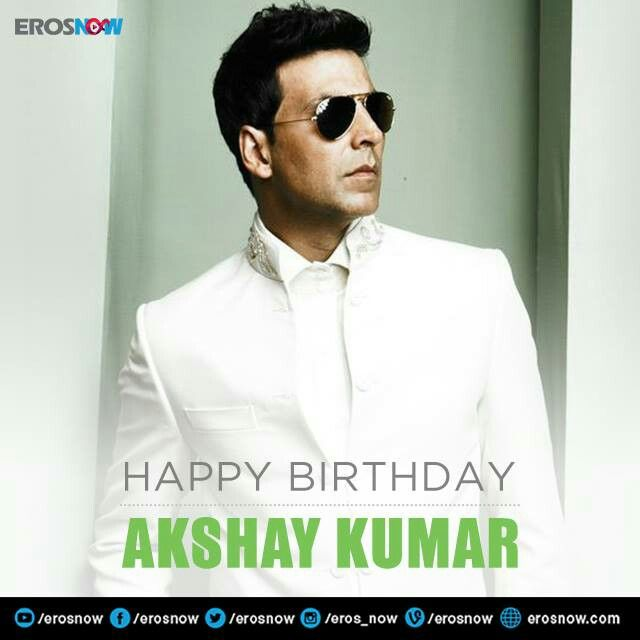 A very Happy Birthday to the Bollywood superstar Akshay Kumar. Hope you have an amazing year ahead. #HappyBirthdayAkshayKumar.
