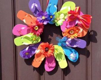 Flip Flop Wreath, Perfect for Summer Decor