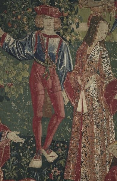 detail of Youth (From Chateau de Chaumont Set) | Cleveland Museum of Art France (Lyons?), early 16th Century