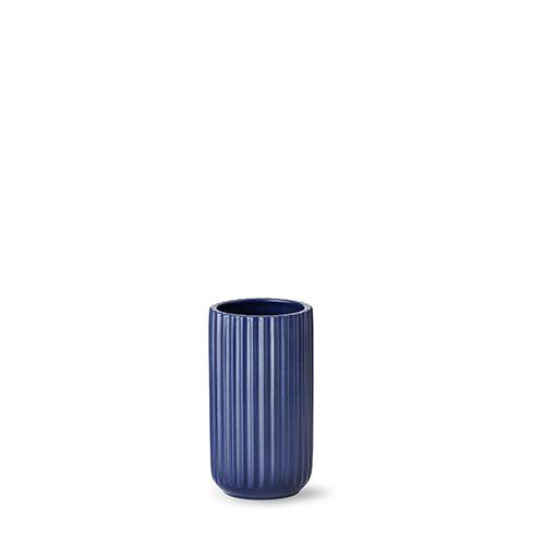 Our 15 cm original Lyngby vase in matt blue porcelain