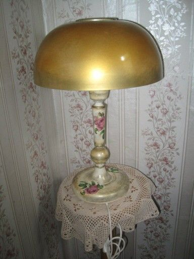 Декупаж лампы, переделка , интерьер