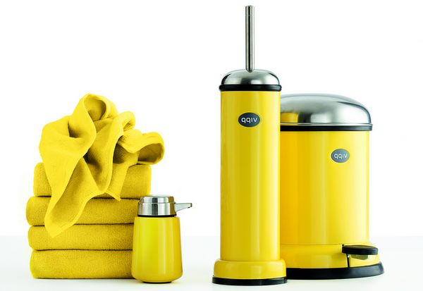yellow-accessories-for-bathroom
