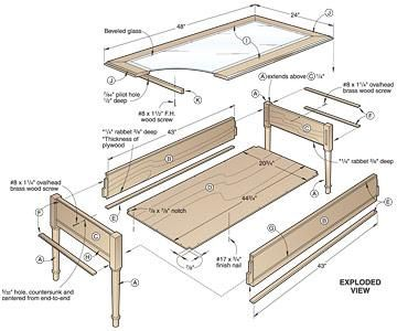 25 best ideas about shadow box coffee table on pinterest for Shadow box plans pdf