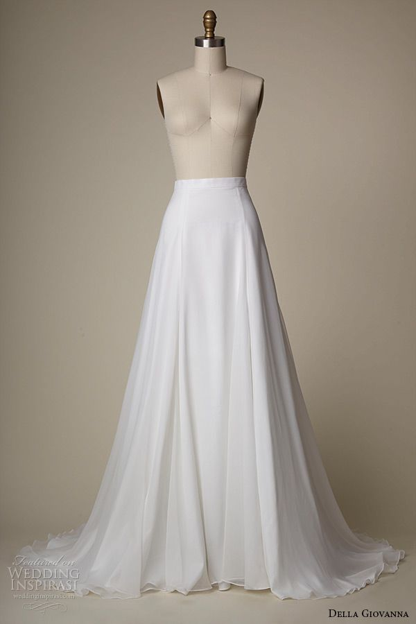 della giovanna wedding dress 2015 bridal silk chiffon a line skirt quinn