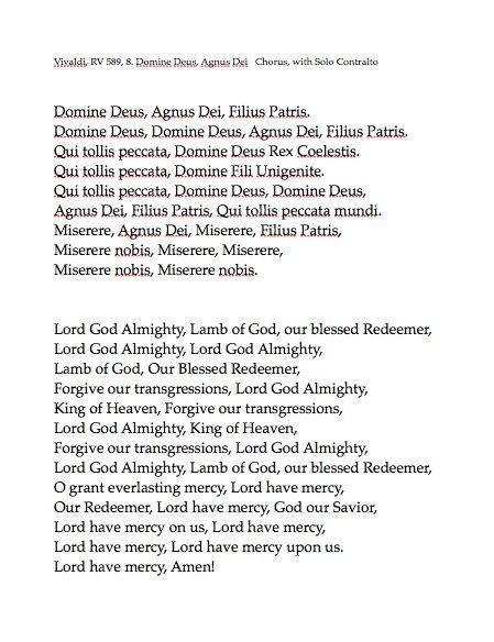 VIII. Domine Deus, Agnus Dei
