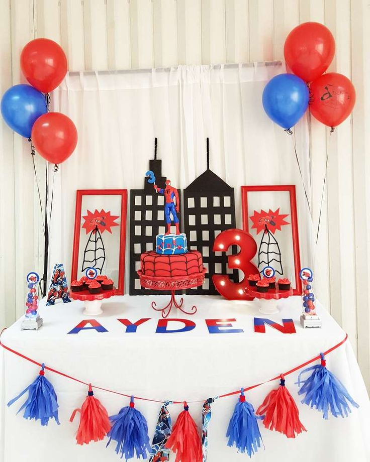 Amazing Spiderman birthday party! See more party ideas at CatchMyParty.com!