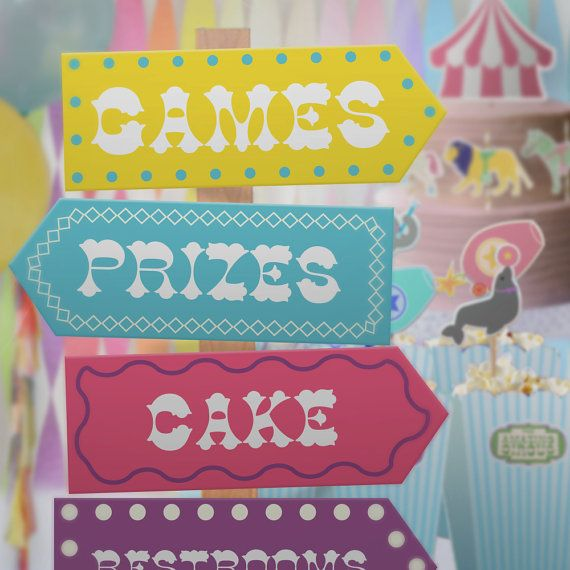 Pastel Circus feest thema / / Party Kit / / door PaperConfete