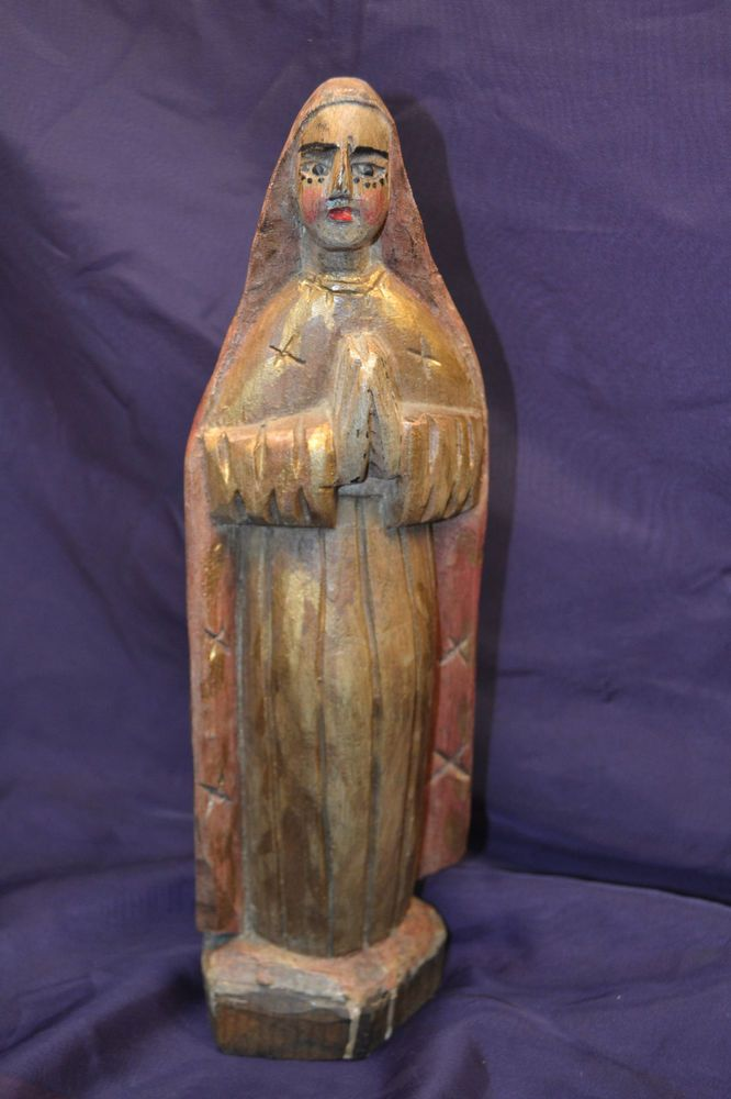 Santos Old Vintage Religious Figure South American Or