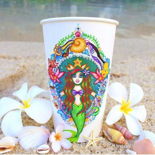 The Little Mermaid starbucks cup - Kristina Webb