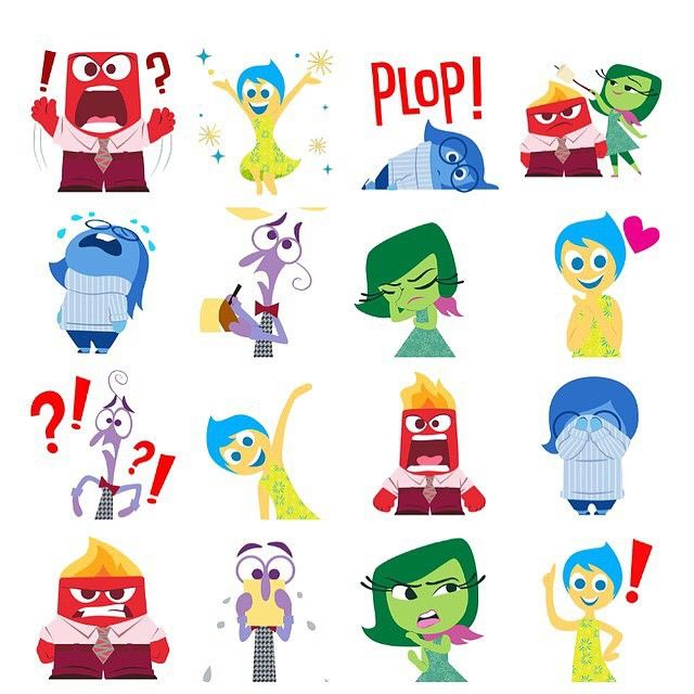 ✨ Happy to have worked in these Facebook Animated Stickers for Inside Out!! Go download and use them on messenger!! ✨ Great job to the team and I!