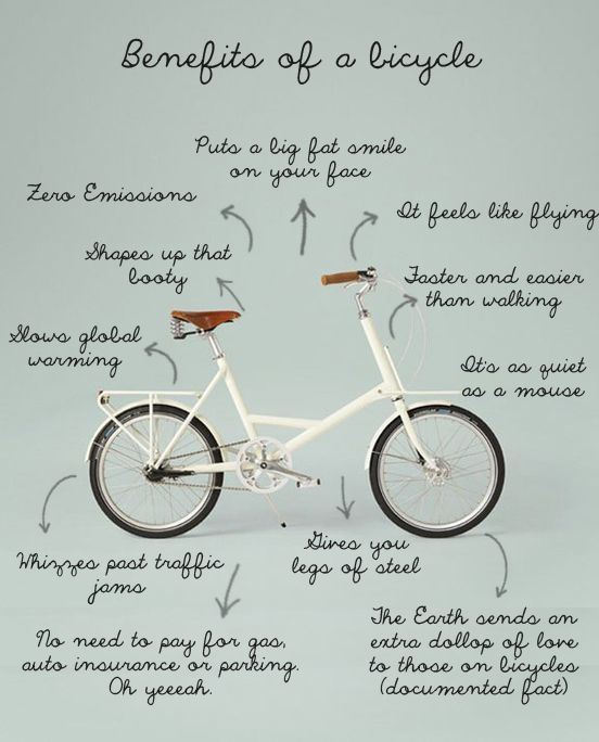 "Another great version of ""Benefits of a Bicycle"""