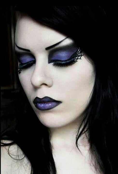 Purple gothic makeup