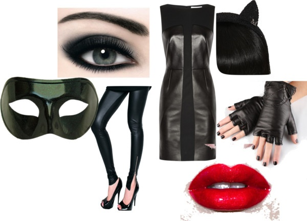 """Outfit #4- Catwoman style"" by strawberrycakex on Polyvore"