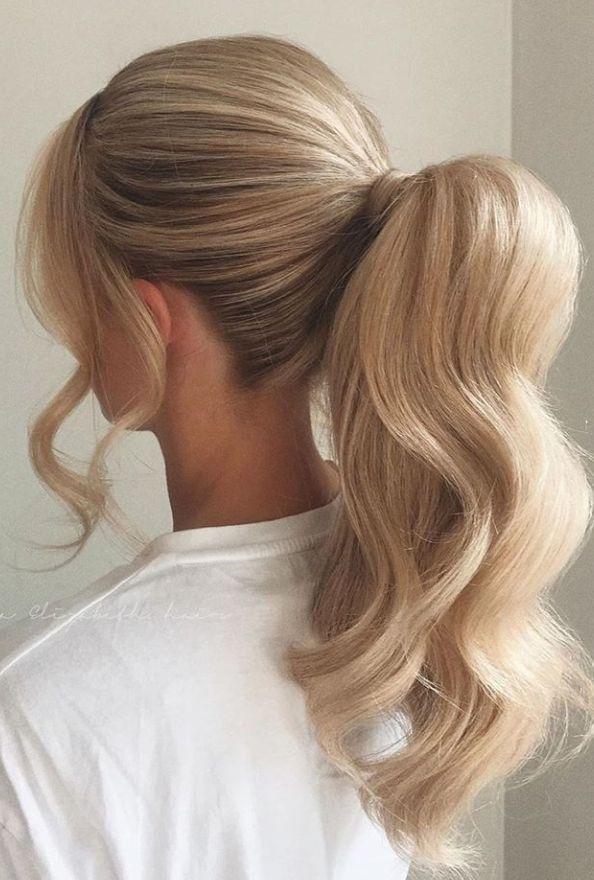 Ponytail Hairstyle Blondehair Ponytail Hairstyle Design Ponytail Hairstyle Design For Brunett In 2020 Hair Styles Ponytail Hairstyles Easy Ponytail Hairstyles