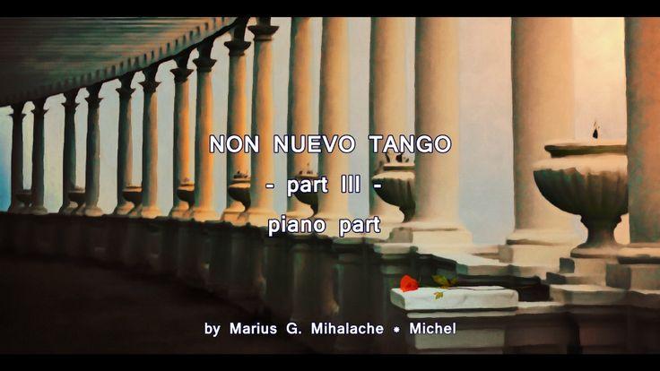 """Non Nuevo Tango  - III - Piano part  from """"Tiempo puntual"""""""