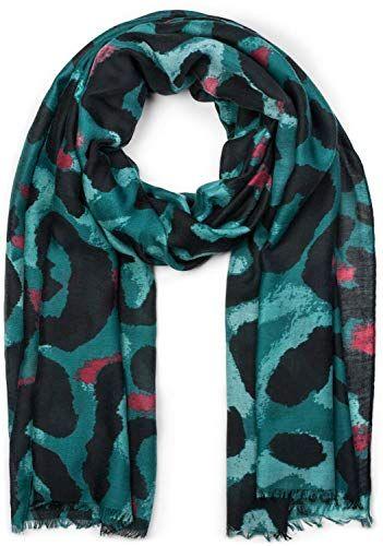 styleBREAKER Châle pour femme avec grand motif léopard et franges écharpe  d hiver étole foulard bf12de52806