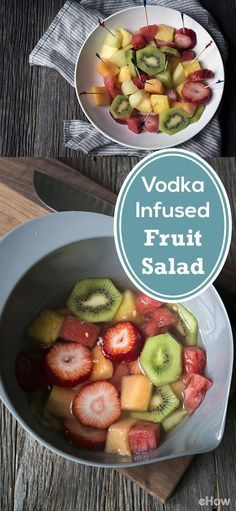 This vodka-infused fruit salad is a simple, crowd pleasing treat that can be easily brought along to potlucks.