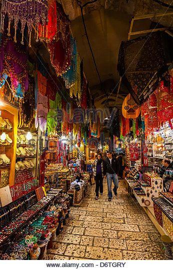 Arab Souk, Old City, Jerusalem, Israel.