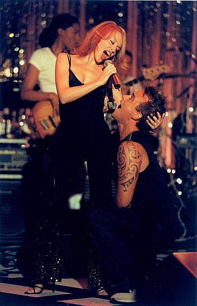 Robbie Williams and Kylie Minogue