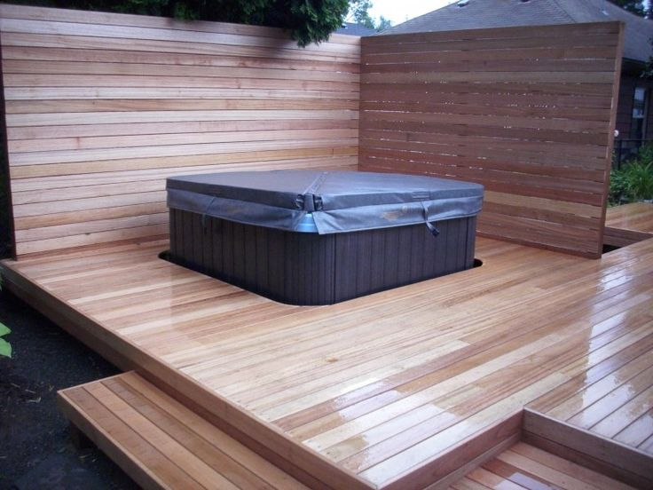 64 best decking and hot tub ideas images on pinterest for Garden decking and hot tub