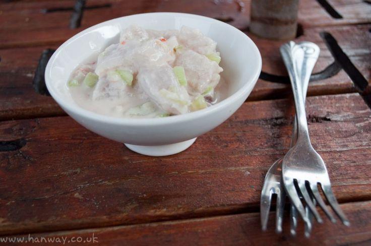 Ike Mata - Raw fish with coconut, chillies, lime and spring onions - Rarotonga