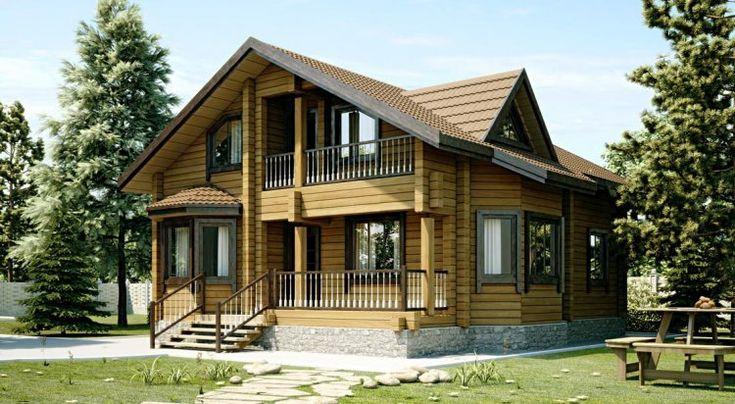 """Жилой дом """"Метрополь"""" из профилированного бруса 190х190 мм, размером 12,1х9,3 м. - Проекты домов"""