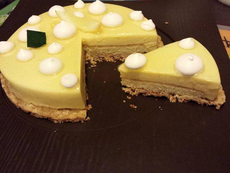 Delizia al Limone di Maurizio Santin rivisitata: frolla ricomposta, biscotto agli agrumi, cremoso al limone