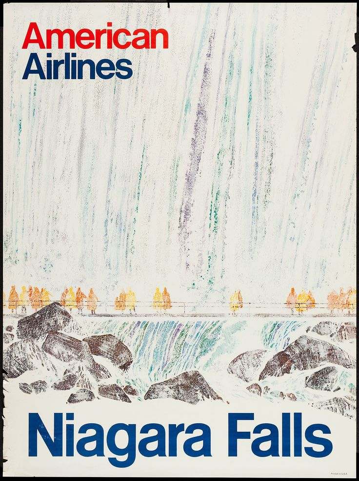 American Airlines Travel Poster for Niagara Falls