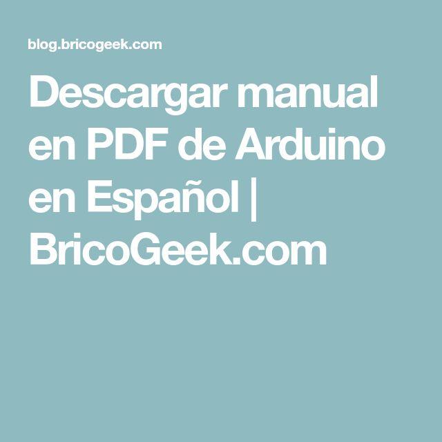 Descargar manual en pdf de arduino español