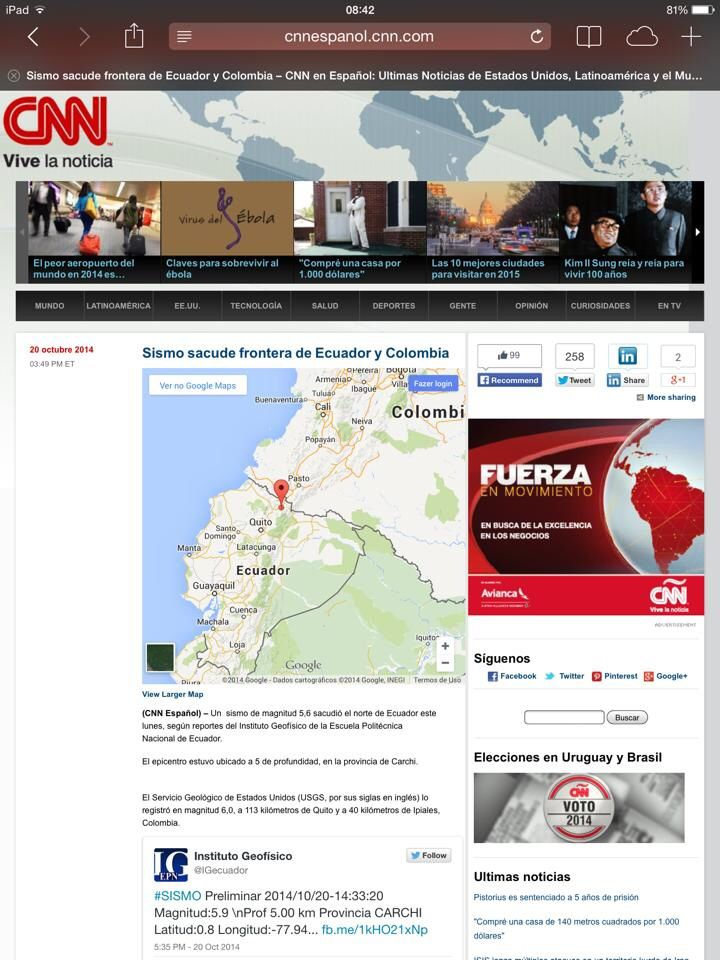 Terremoto em Ipiales