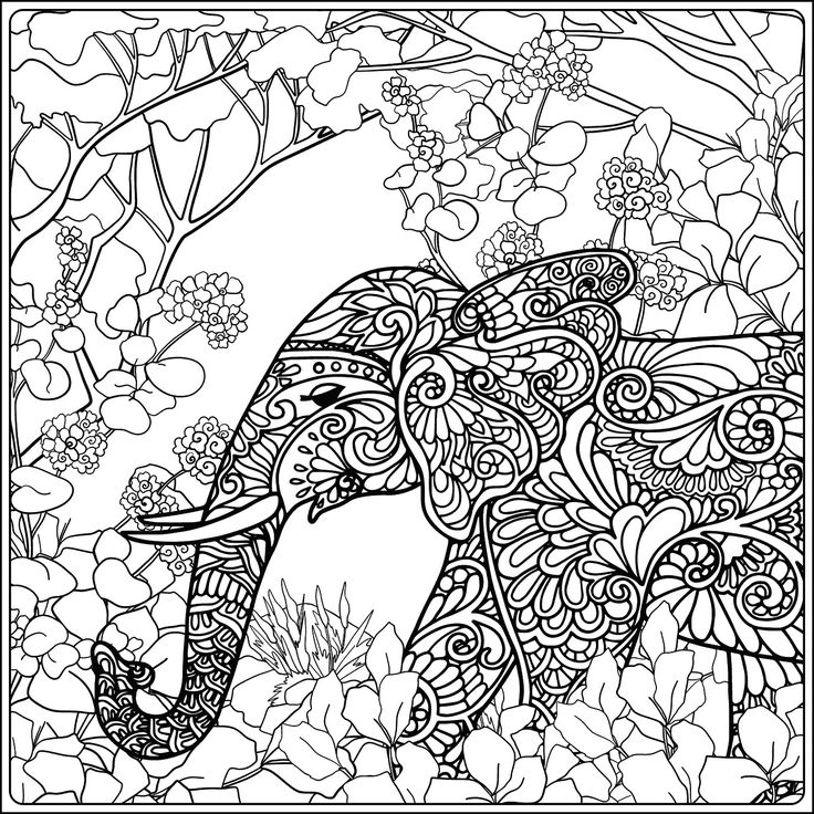 503 besten coloring elephant Bilder auf Pinterest | Kritzelkunst ...