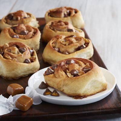 Cinnamon Rolls with Apples, Walnuts & Caramel Filled DelightFulls™
