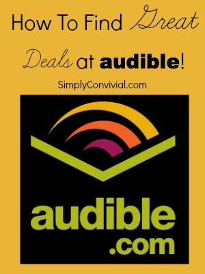Step by step instructions for finding free and cheap books on Audible!