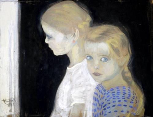 Le due bambine  Felice Casorati