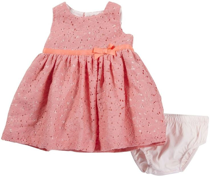 Carter's Baby Girls Sleeveless Special Occasion Dress (NB-24M) (18 Months, Pink Lace)