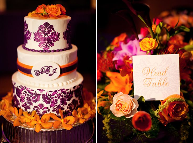 180 best Orange & Purple Wedding Inspiration images on Pinterest ...