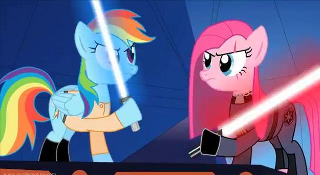 Star Wars Re-enacted By My Little Ponies [Video]