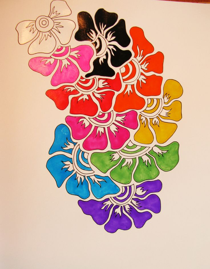 Zentangle Flowers Color Images